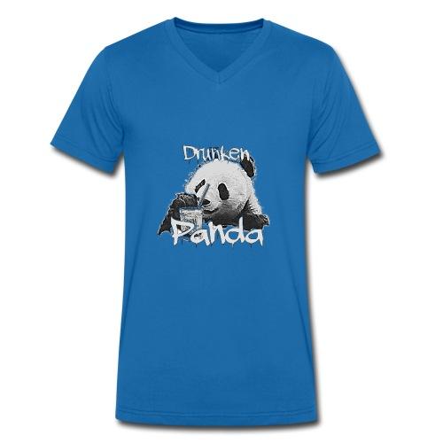 Drunken Panda - Männer Bio-T-Shirt mit V-Ausschnitt von Stanley & Stella