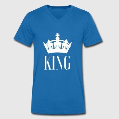 konge - Økologisk Stanley & Stella T-shirt med V-udskæring til herrer