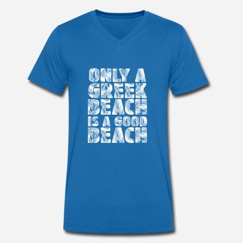 BEACH white - Männer Bio-T-Shirt mit V-Ausschnitt von Stanley & Stella