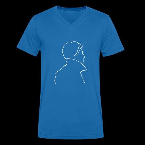 David Bowie Low (white) - Men's Organic V-Neck T-Shirt by Stanley & Stella