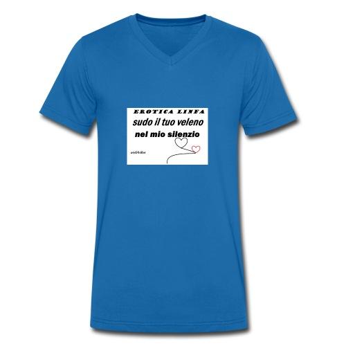 erotica linfa - T-shirt ecologica da uomo con scollo a V di Stanley & Stella