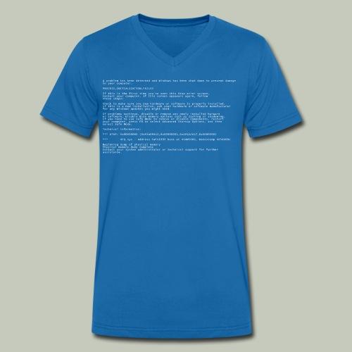 Blue Screen of Death - Männer Bio-T-Shirt mit V-Ausschnitt von Stanley & Stella
