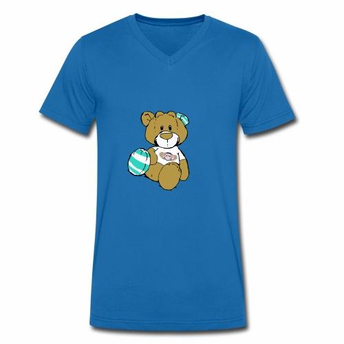 Teddy Echtwelt - Männer Bio-T-Shirt mit V-Ausschnitt von Stanley & Stella
