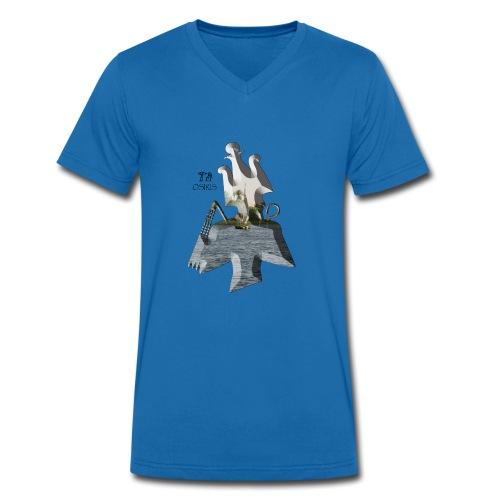 Altägyptischer Gott OSIRIS - Männer Bio-T-Shirt mit V-Ausschnitt von Stanley & Stella
