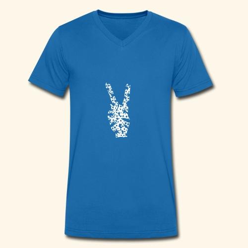 Hollydays in Peace - Männer Bio-T-Shirt mit V-Ausschnitt von Stanley & Stella