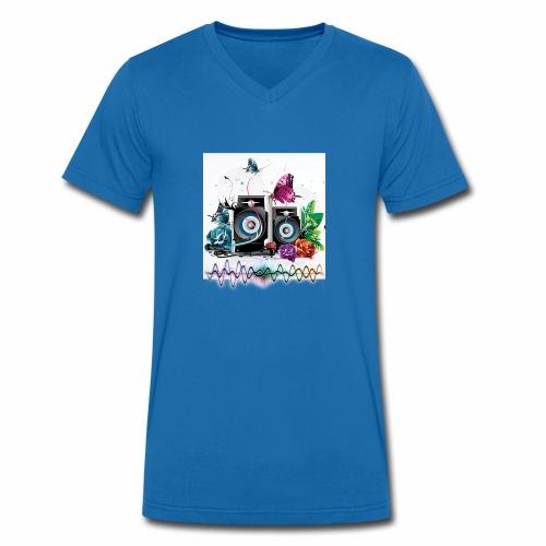 Music free - T-shirt ecologica da uomo con scollo a V di Stanley & Stella