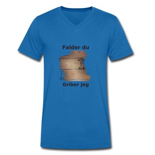 Gulvet Griber - Økologisk Stanley & Stella T-shirt med V-udskæring til herrer