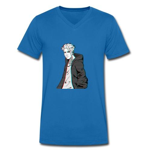 Cyber Glitch Guy - Men's Organic V-Neck T-Shirt by Stanley & Stella