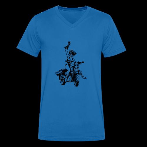catgirl - Männer Bio-T-Shirt mit V-Ausschnitt von Stanley & Stella