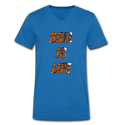 Ball is Life Limited Basketball Shirt - Männer Bio-T-Shirt mit V-Ausschnitt von Stanley & Stella