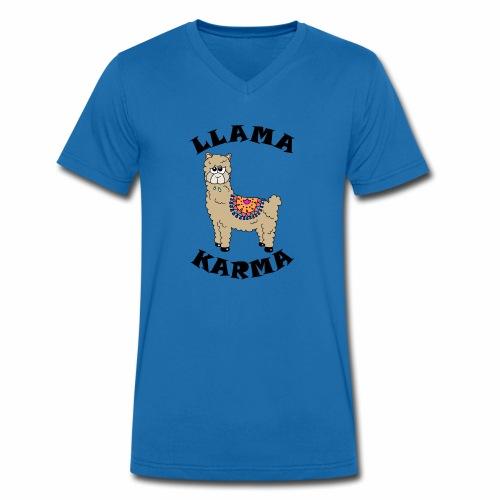 Llama Karma - Men's Organic V-Neck T-Shirt by Stanley & Stella