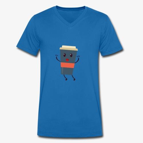 Caffee - Männer Bio-T-Shirt mit V-Ausschnitt von Stanley & Stella