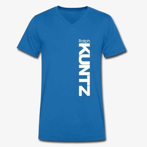 Ralph KUNTZ (White Logo) (Vertical) - Men's Organic V-Neck T-Shirt by Stanley & Stella