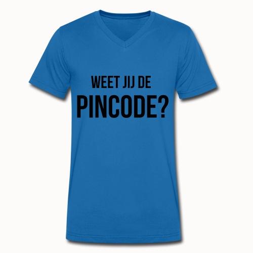 Weet jij de Pincode? - Mannen bio T-shirt met V-hals van Stanley & Stella