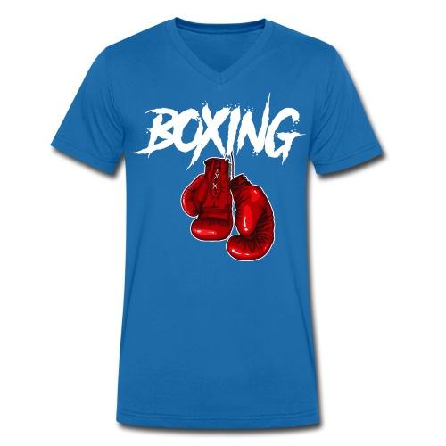 T-Shirt Boxing - Männer Bio-T-Shirt mit V-Ausschnitt von Stanley & Stella
