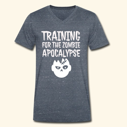 Training for the zombie apocalypse - Men's Organic V-Neck T-Shirt by Stanley & Stella
