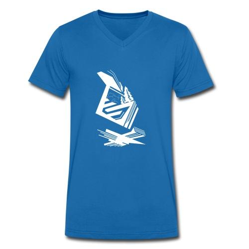 Nextxun Landscape - Camiseta ecológica hombre con cuello de pico de Stanley & Stella