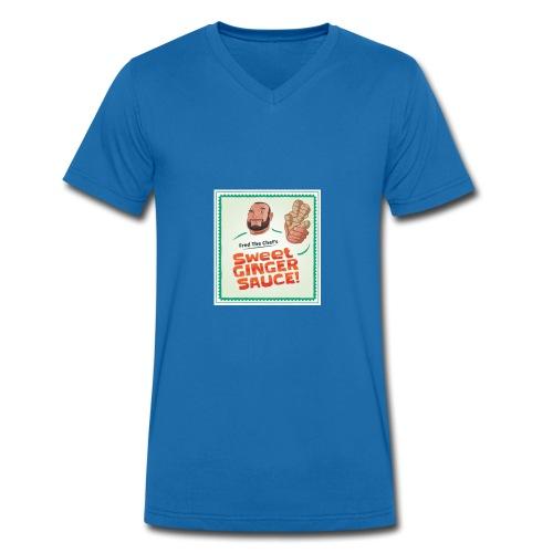 Fred The Chef's Sweet Ginger Sauce - Økologisk T-skjorte med V-hals for menn fra Stanley & Stella