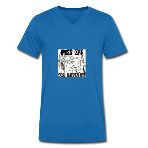 RIK MAYALL - Men's Organic V-Neck T-Shirt by Stanley & Stella