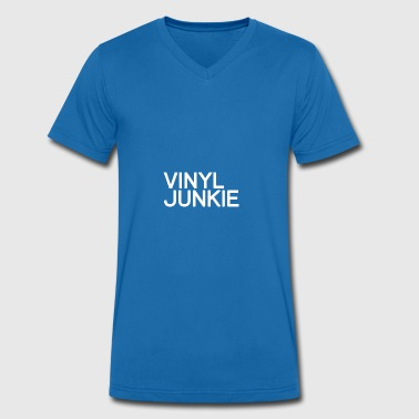 TECHNO - VINYL JUNKIE PLEDGE - Men's Organic V-Neck T-Shirt by Stanley & Stella