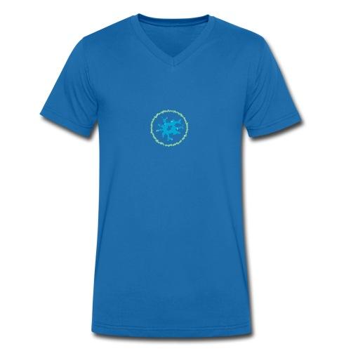 virus - Men's Organic V-Neck T-Shirt by Stanley & Stella