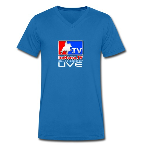 IceHorse logo - Men's Organic V-Neck T-Shirt by Stanley & Stella