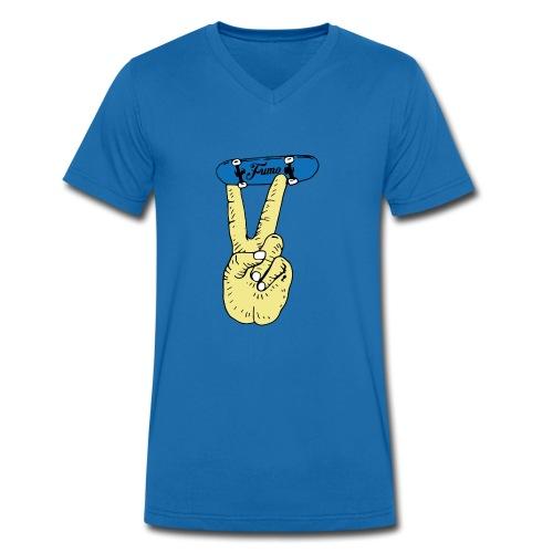 fumo finger skateboard - Männer Bio-T-Shirt mit V-Ausschnitt von Stanley & Stella