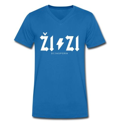 ŽIZI Dijaspora - Männer Bio-T-Shirt mit V-Ausschnitt von Stanley & Stella