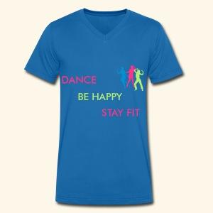 Dance - Be Happy - Stay Fit - Männer Bio-T-Shirt mit V-Ausschnitt von Stanley & Stella
