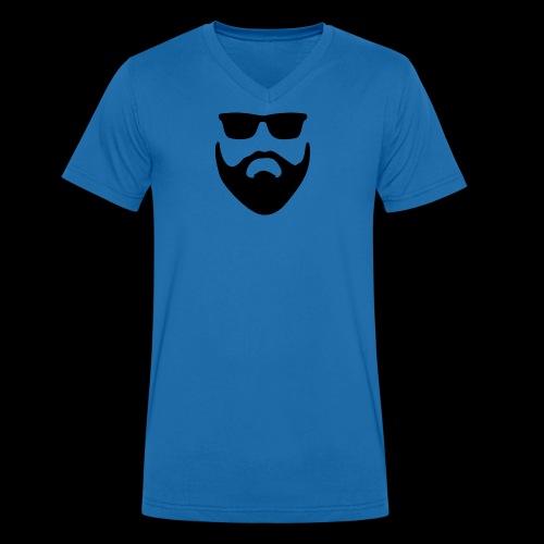 Bart und Sonnenbrille - Männer Bio-T-Shirt mit V-Ausschnitt von Stanley & Stella
