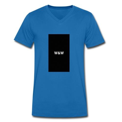 W&W Logo - Men's Organic V-Neck T-Shirt by Stanley & Stella