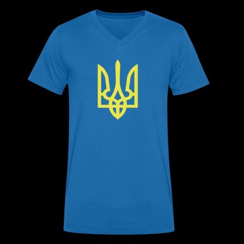 Ukraine Wappen Trident - Männer Bio-T-Shirt mit V-Ausschnitt von Stanley & Stella