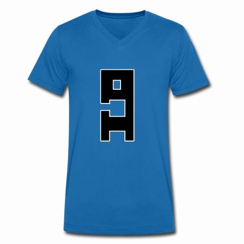 Herbert mit weißer Kontur - Männer Bio-T-Shirt mit V-Ausschnitt von Stanley & Stella