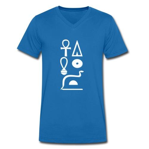 Hieroglyphen - Leben wie Re ewig - Männer Bio-T-Shirt mit V-Ausschnitt von Stanley & Stella