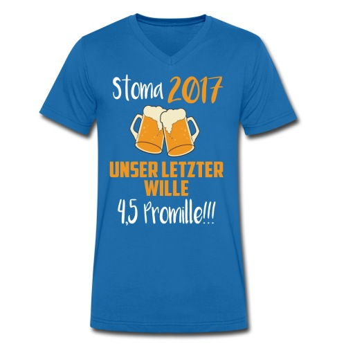 Stoma 2017. Unser letzter WIlle 4,5 Promille. - Männer Bio-T-Shirt mit V-Ausschnitt von Stanley & Stella