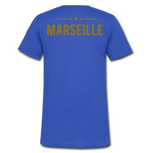 marseille in Goldener Schrift - Männer Bio-T-Shirt mit V-Ausschnitt von Stanley & Stella