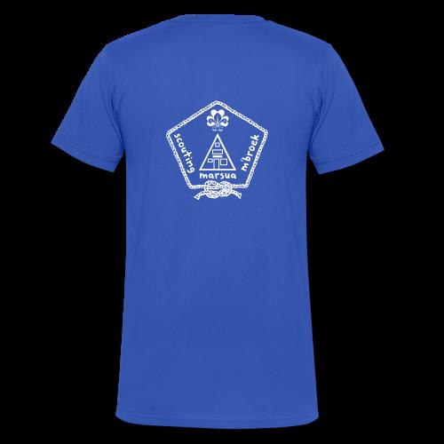 Marsua Wit - Mannen bio T-shirt met V-hals van Stanley & Stella