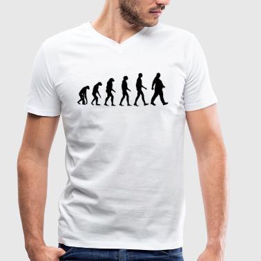 Pogrubienie ewolucji - kim są otyłe Dick - otyłość - śmieszne - Ekologiczna koszulka męska z dekoltem w serek Stanley & Stella