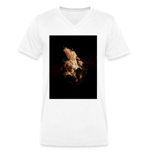 Bonfire Print - Men's Organic V-Neck T-Shirt by Stanley & Stella