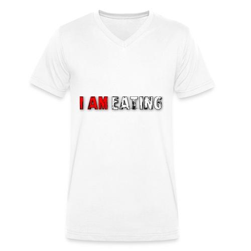 I am eating. - Mannen bio T-shirt met V-hals van Stanley & Stella
