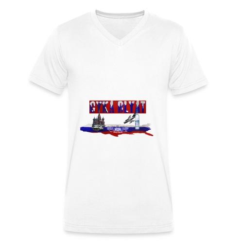 cyka blyat - Männer Bio-T-Shirt mit V-Ausschnitt von Stanley & Stella