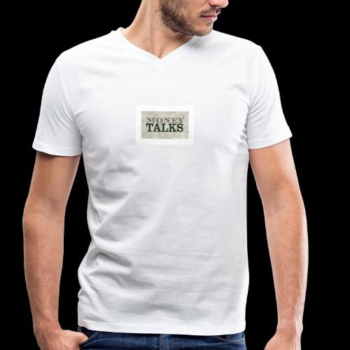 Money Talks - Men's Organic V-Neck T-Shirt by Stanley & Stella