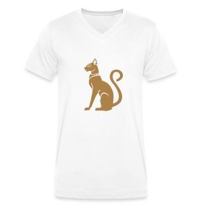 Bastet - Katzengöttin im alten Ägypten - Männer Bio-T-Shirt mit V-Ausschnitt von Stanley & Stella