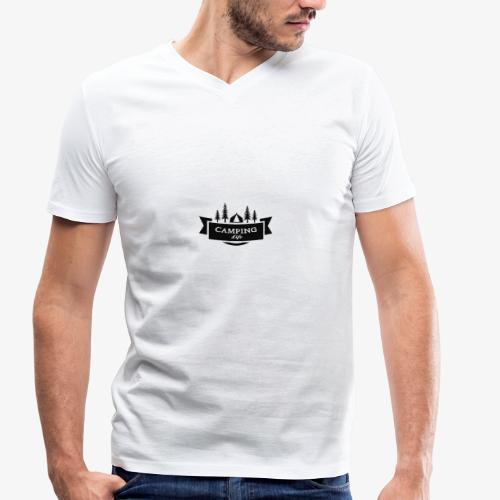 camping life - Camiseta ecológica hombre con cuello de pico de Stanley & Stella