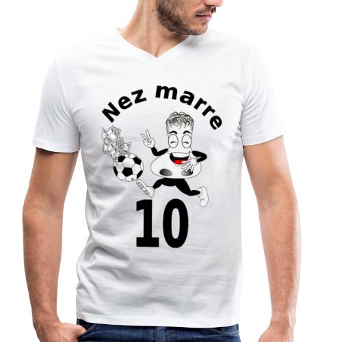 Nez marre football humour FC - T-shirt bio col V Stanley & Stella Homme
