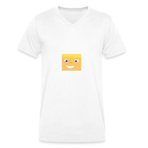 WolfHD RealLife Face in Minecarft - Økologisk T-skjorte med V-hals for menn fra Stanley & Stella