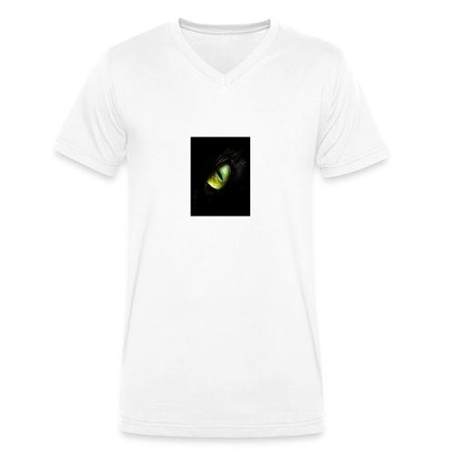 Reptil eyes - Camiseta ecológica hombre con cuello de pico de Stanley & Stella