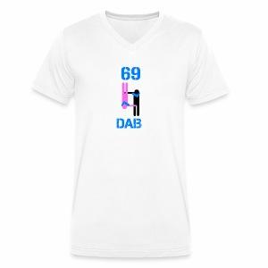 69 Dab Erotica - T-shirt ecologica da uomo con scollo a V di Stanley & Stella