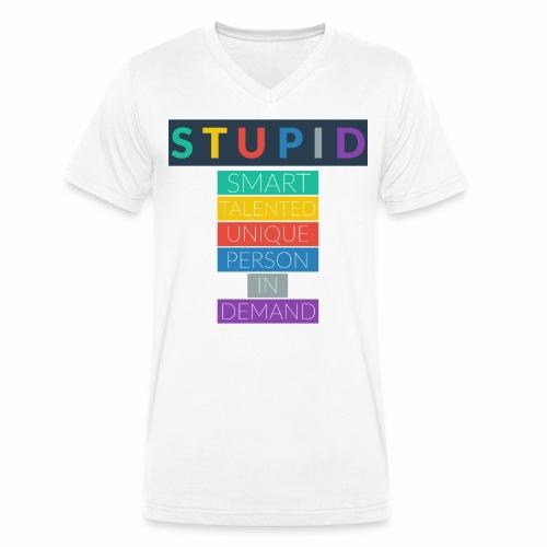 STUPID - T-shirt bio col V Stanley & Stella Homme