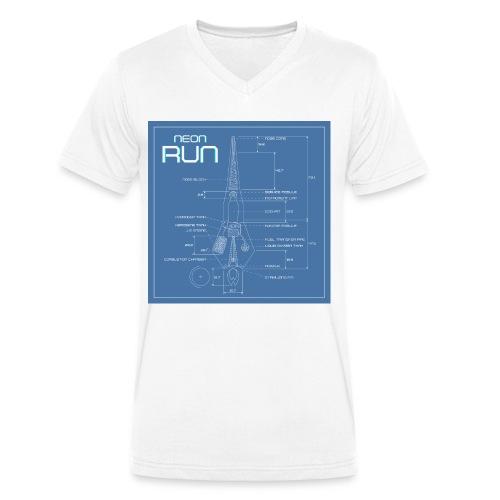 NeonRun blueprint - Mannen bio T-shirt met V-hals van Stanley & Stella
